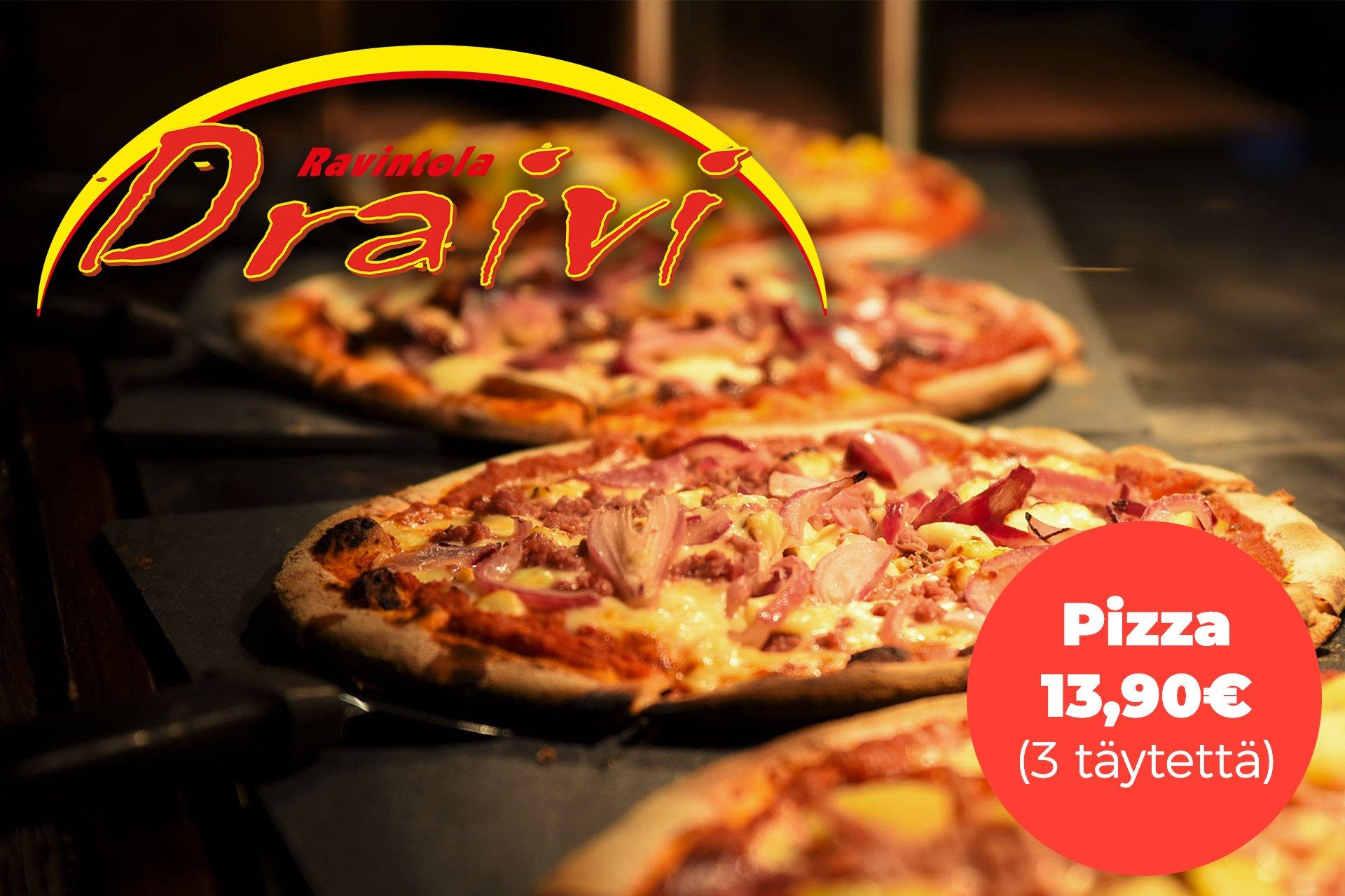 Draivi-pizza-hinta