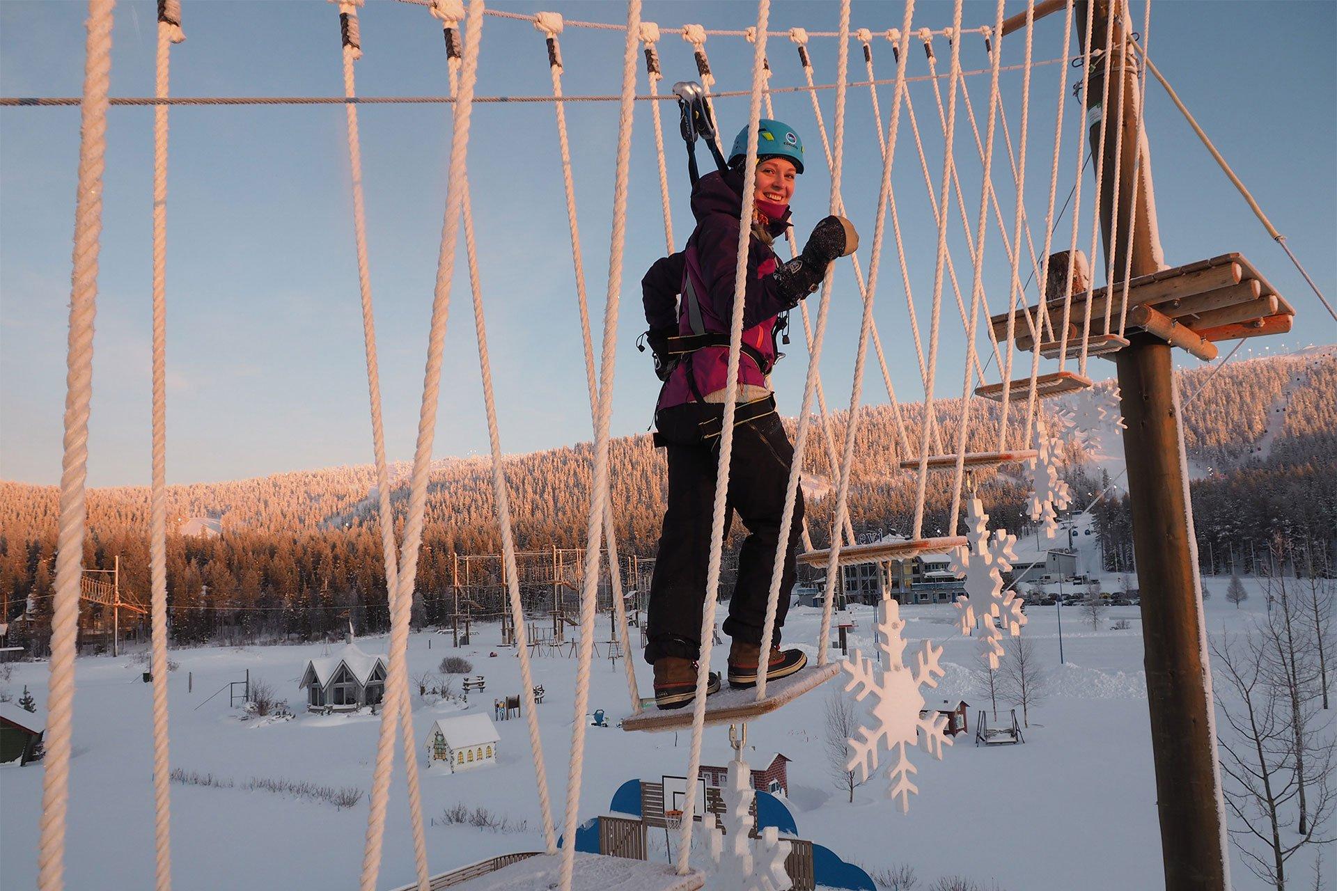 Levi talvinen seikkailupuisto