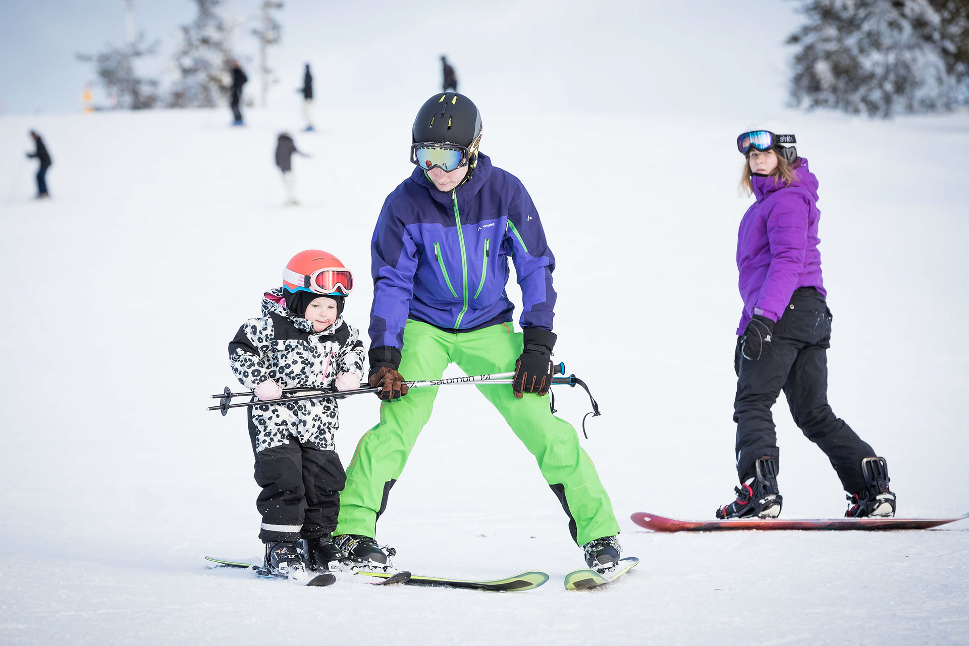 Families on the slopes